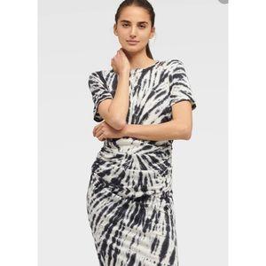 Dkny Dresses - NWT DKNY TIE-DYE RUCHED T-SHIRT DRESS